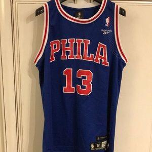 Philadelphia 76ers Wilt Chamberlin Reebok Jersey
